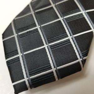 NWOT Pierre Cardin Black and Gray Slim Tie